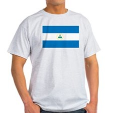 Nicaragua Flag Ash Grey T-Shirt