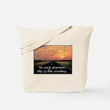 Cute Bat in the sun Tote Bag