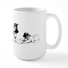 akita mom & pup Mug