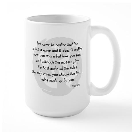 pennywise lyrics 2 Large Mug