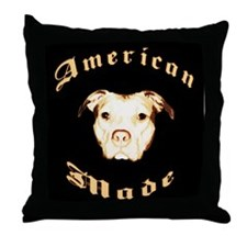 Unique American staffordshire terrier Throw Pillow
