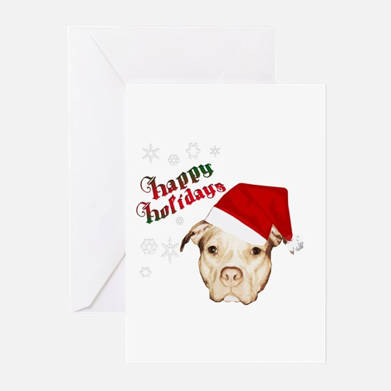 pit bull holidays Greeting Cards (Pk of 10)