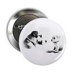best friends white Button