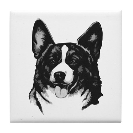 corgi - cardigan Tile Coaster
