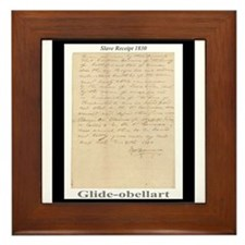 Slave Receipt 1830 Framed Tile