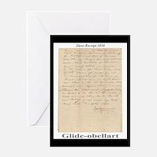 Slave Receipt 1830 Greeting Card