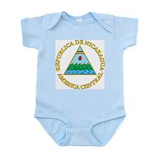 Nicaragua Coat Of Arms Infant Creeper