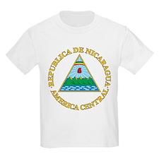 Nicaragua Coat Of Arms Kids T-Shirt
