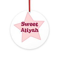 Sweet Aliyah Ornament (Round)