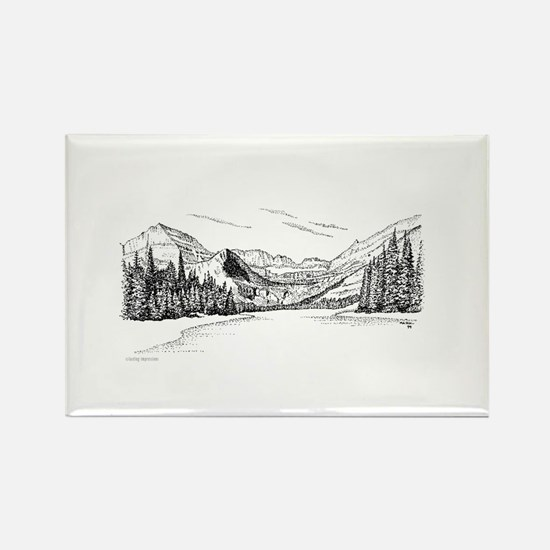 Glacier Park Rectangle Magnet