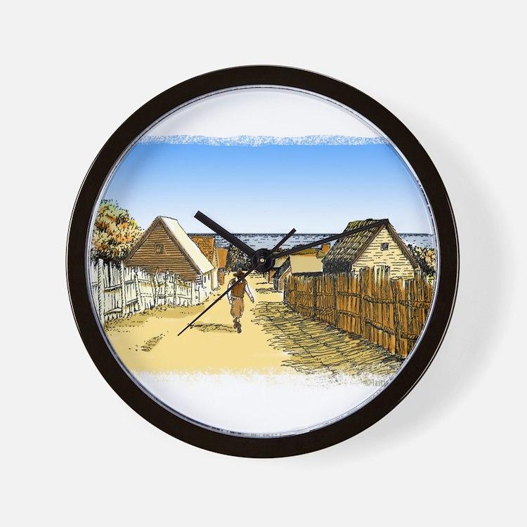 Plimoth Plantation Wall Clock
