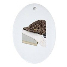 Bookworm accessories Oval Ornament