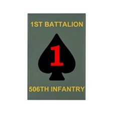 1-506th Infantry Battalion Rectangle Magnet