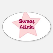 Sweet Alicia Oval Decal