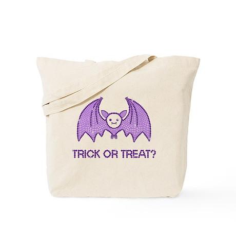 Cute Halloween Rhinestone Bat Tote Bag