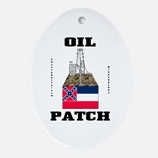 Mississippi Oil Patch Oval OrnamentOi,Gas