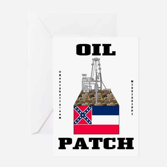 Mississippi Oil Patch Greeting Card,Oil,Gas