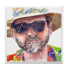 Man in Hat Tile Coaster