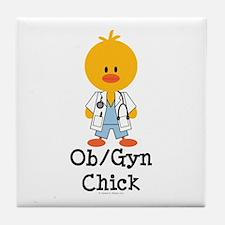 OB/GYN Chick Tile Coaster