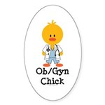 OB/GYN Chick Oval Sticker (10 pk)