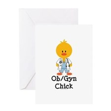 OB/GYN Chick Greeting Card