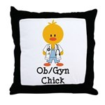 OB/GYN Chick Throw Pillow