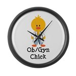 OB/GYN Chick Large Wall Clock