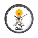 OB/GYN Chick Wall Clock