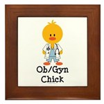 OB/GYN Chick Framed Tile