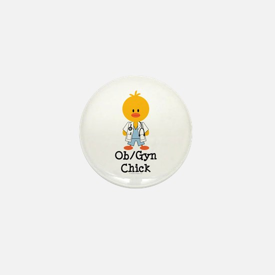 OB/GYN Chick Mini Button