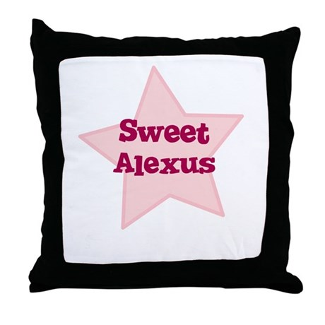 Sweet Alexus Throw Pillow