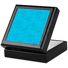Blue Parchment Look Keepsake Box