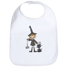 Witch and Cat Bib