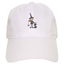 Witch and Cat Baseball Cap