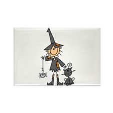 Witch and Cat Rectangle Magnet (100 pack)