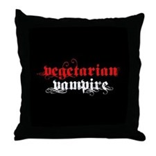 Vegetarian Vampire Throw Pillow