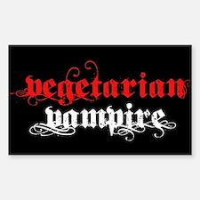Vegetarian Vampire Rectangle Decal