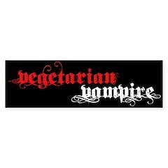 Vegetarian Vampire Bumper Bumper Sticker