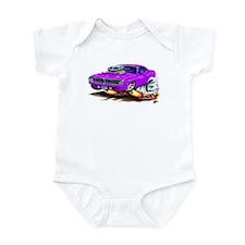 Cuda Purple Car Infant Bodysuit