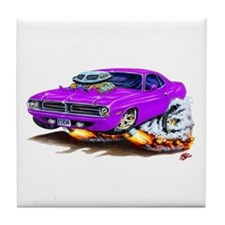 Cuda Purple Car Tile Coaster