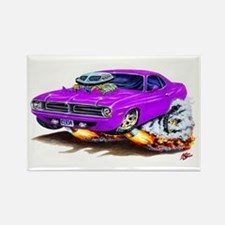 Cuda Purple Car Rectangle Magnet