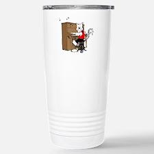 Piano Cat Mugs Travel Mug