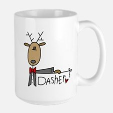 Dasher Reindeer Ceramic Mugs