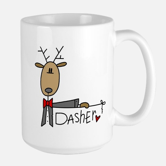 Dasher Reindeer Large Mug