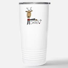 Dasher Reindeer Stainless Steel Travel Mug
