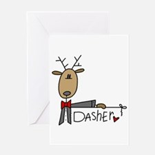 Dasher Reindeer Greeting Card