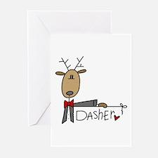 Dasher Reindeer Greeting Cards (Pk of 10)