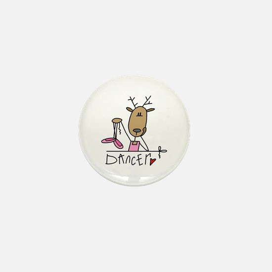 Dancer Reindeer Mini Button