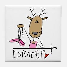 Dancer Reindeer Tile Coaster