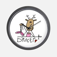 Dancer Reindeer Wall Clock